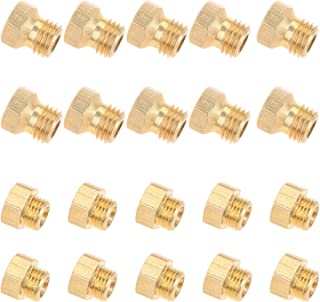 HZ-MONSTAR Replacement for Propane Lpg Gas Pipe Water Heater DIY Burner Parts, Brass Jet Nozzles M5x0.5mm/0.68mm (10pcs) a...