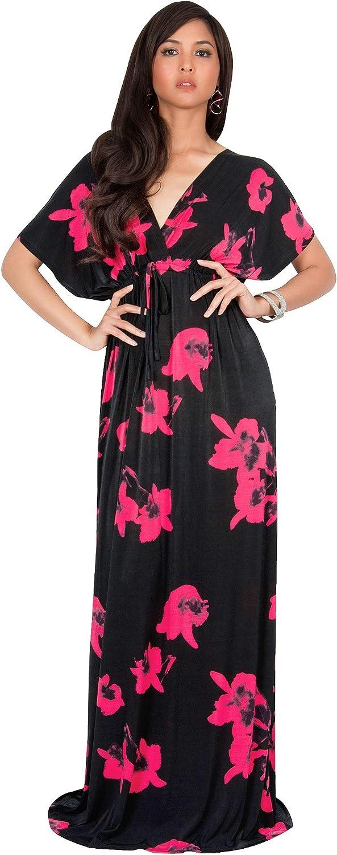 Columbus Mall KOH Womens Long Kimono Short V-Neck Flo Special Campaign Sleeve Floral Summer