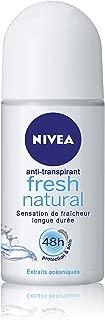 Nivea Fresh Natural Deodorant Roll-On, 1.7 Fluid Ounce (Pack of 2)