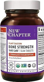 New Chapter Calcium Supplement – Bone Strength Whole Food Calcium with Vitamin K2 + D3 + Magnesium, Vegetarian, Gluten Fre...
