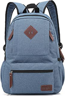 AchirStyle Lightweight Canvas Laptop Bag Shoulder Daypack Bag School Backpack for Men Women School Children Causal Handbag (Blue)