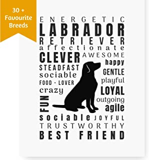 Dragonfly home & gift Dog Décor Labrador Retriever Wall Art - Quote Print | Pet Memorial Gifts | Dog Mom | New Puppy (8.5x11 Unframed) Keepsake Gifts for Dog Lovers