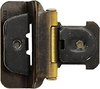 Amerock CMR8704AE 1/2in (13 mm) Overlay Double Demountable Antique Brass Hinge - 200 Pack