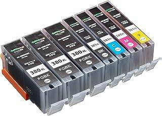 Canon BCI-381XL + BCI-380XL 5mp 5色マルチパック +PGBK2本セット 大容量 ( PGBK×3 / BK/C/M/Y ) キャノン 互換 インクカートリッジ 【インク革命製】 残量検知機能ICチップ付き BCI-381 BCI-380対応 プリンター : PIXUS-TS8130 PIXUS-TS6130 PIXUS-TR8530 PIXUS-TR7530