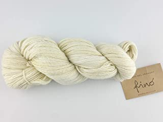 Manos Del Uruguay Silk Blend Fino - 100gm 414 Ivory Letter Opener, Hand Dyed Knitting Yarn