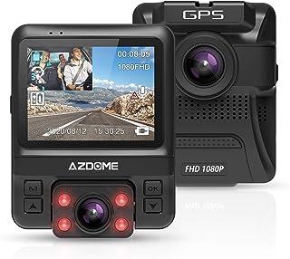 【GPS搭載】ドライブレコーダー 前後カメラ 2カメラ どらいぶれこーだー 車内外同時記録 車内+車外 内蔵GPS 赤外線搭載 1080フルHD 1800万画素 170°広角 ドラレコ デュアルレンズ IMX323センサー/レンズ LED信号対...