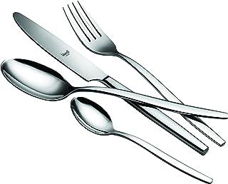 Mepra 108522024 Flatware Set, [24 Piece, Metallic Finish, Dishwasher Safe Cutlery