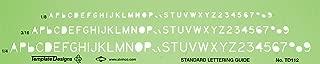 Alvin TD112 Lettering Template