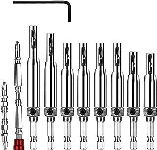 Flintronic Center Boorset, 11 stuks Scharnier Boor, Zelfcentrerend Scharnier Hardware Gat Boor Gereedschap Kit voor Houtbe...