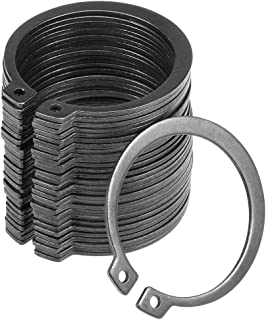 uxcell 49mm External Circlips C-Clip Retaining Snap Rings 304 Stainless Steel 20pcs