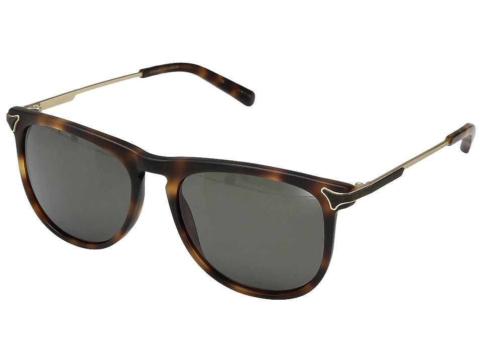 Shwood Keller Acetate Wood (Matte Brindle/G15) Sport Sunglasses