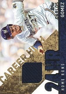 2015 Topps Baseball Career High Relics #CRH-CG Carlos Gomez S1 Jersey Milwaukee Brewers