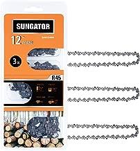 SUNGATOR 3-Pack 12 Inch Chainsaw Chain SG-R45, 3/8