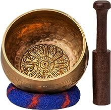 Tibetan Singing Bowl Set with Healing Mantra Engravings — Meditation Sound Bowl Handcrafted in Nepal