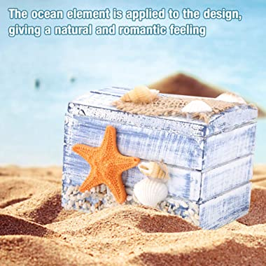 Tomantery Mediterranean Storage Box Wooden Jewelry Storage Jewelry Organizer Party for Mini Gifts