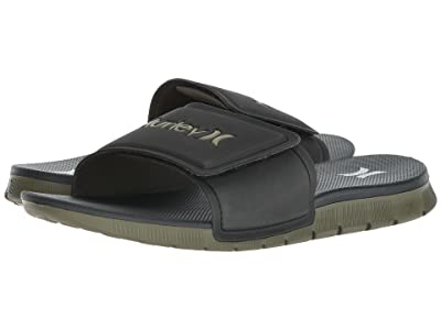 Hurley Fusion 2.0 Slide (Black/White/Olive) Men