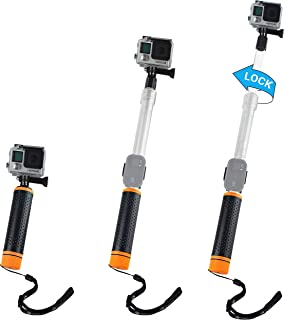 CamKix Waterproof Telescopic Pole Floating Hand Grip - Compatible with Gopro Hero 8 Black, Hero 7, 6, 5, Black, Session, Hero 4, Session, Black, Silver, Hero+ LCD and DJI Osmo Action
