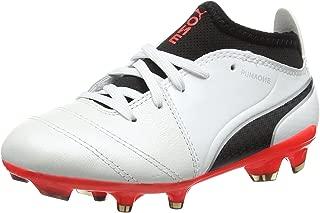 One 17.3 FG Firm Ground Kids Soccer Boot Shoe White/Black