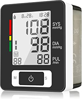 Digital Wrist Blood Pressure Monitor, Automatic BP with 90 Readings Memory Function, 2-User, LCD Large Screen, Accurate Fast Reading, Adjustable Cuff Perfect for Health Monitoring- FDA Approved