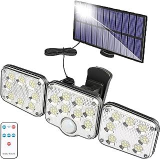 Lumière Solaire Extérieure avec Détecteur de Mouvement 130 LED, Lumière Solaire de Jardin à 1300 Lumen, Lampe Solaire avec...