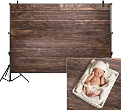 Allenjoy 8x6ft Fabric Brown Wood Backdrops for Newborn Photography Wrinkle Free Rustic Birthday Party Retro Grunge Wooden Floor Picture Wall Baby Shower Still Life Product Background Photo Studio Prop