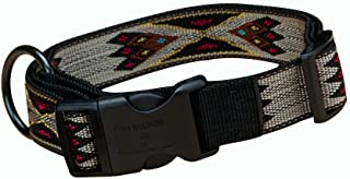 Hamilton Southwest Pattern Adjustable Dog Collar, Large, 1-Inch, Tan