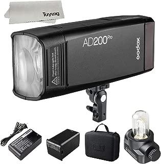 GODOX AD200 PRO AD200Pro 200W Flash 2.4G Wireless Transmission,1/8000 HSS and TTL,5600±200k Color Temperature,Optic Slave for Canon & Nikon&Sony & Olympus & Panasonic & Fujifilm and Pentax