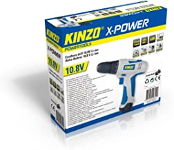 Kinzo 29710 - Taladro atornillador inalámbrico (para metal y madera, 230 V, batería 10,8 V)