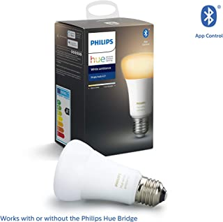Philips Hue UAE Ambiance LED Smart Bulb, Bluetooth & Zigbee compatible ( Hue Bridge Optional ), Works with Alexa & Google ...