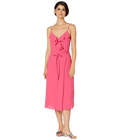 1.STATE Spaghetti Strap Flounce Wrap Dress (Island Bloom) Women