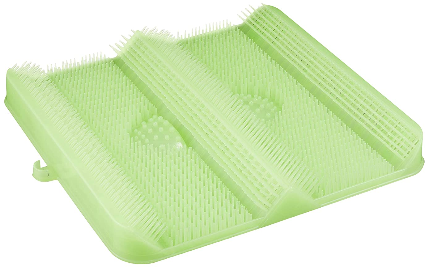 郵便物管理ためらうごしごし洗える!足洗いマット お風呂でスッキリ 足裏洗ったことありますか? HB-2815?グリーン