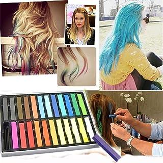Pack de 24 tizas para pintarse el pelo varios colores no tóxicas para el cabello: Amazon.es: Belleza