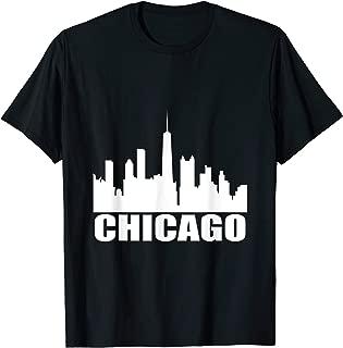 Chicago City Skyline Shirt Illinois Chicagoland T-Shirt
