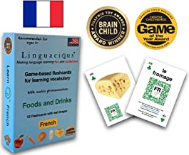 Linguacious Award-Winning French Foods and Drinks Flashcard Game - with Audio!