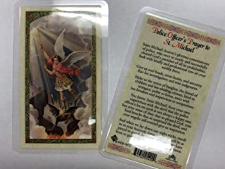 Holy Prayer Cards for The Prayer to Saint Michael - Police Officer's Prayer in English Set of 2