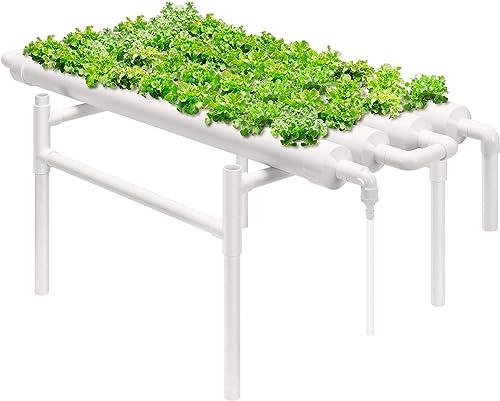 wholesale VIVOSUN Hydroponic Grow Kit, 1 Layer 36 Plant Sites 4 PVC sale Pipes Hydroponics Growing System with Water Pump, Pump wholesale Timer, Nest Basket and Sponge for Leafy Vegetables online sale