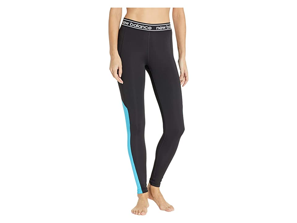 New Balance Color Block Accelerate Tights (Polaris/Black) Women