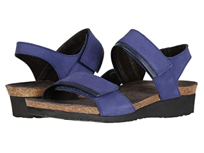 Naot Aisha Wide (Indigo Nubuck/Ink Leather) Women