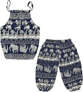Baby Girls Boho Elephant Tops Harem Pants 2 Piece Outfits