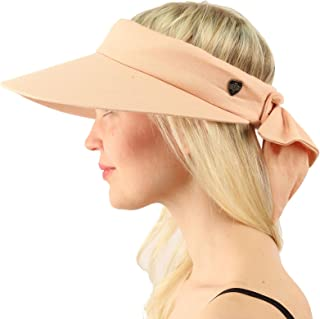 Sun Protection UPF UV Wide Big Brim Linen Cotton Beach Pool Visor Cap Hat