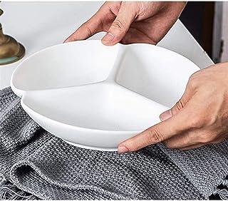 MCE Fruit dienblad servies gedeeld diner plaat huishoudelijke keramische dessertschotel vier-divisie aparte maaltijd plaat...