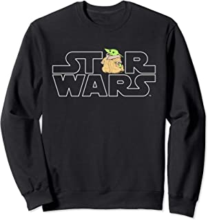 Star Wars Logo and The Child from The Mandalorian Sweatshirt