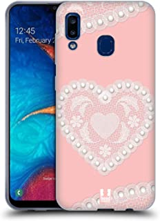 Head Case Designs Heart Laces and Pearls 2 Soft Gel Case Compatible for Samsung Galaxy A20 / A30 (2019)