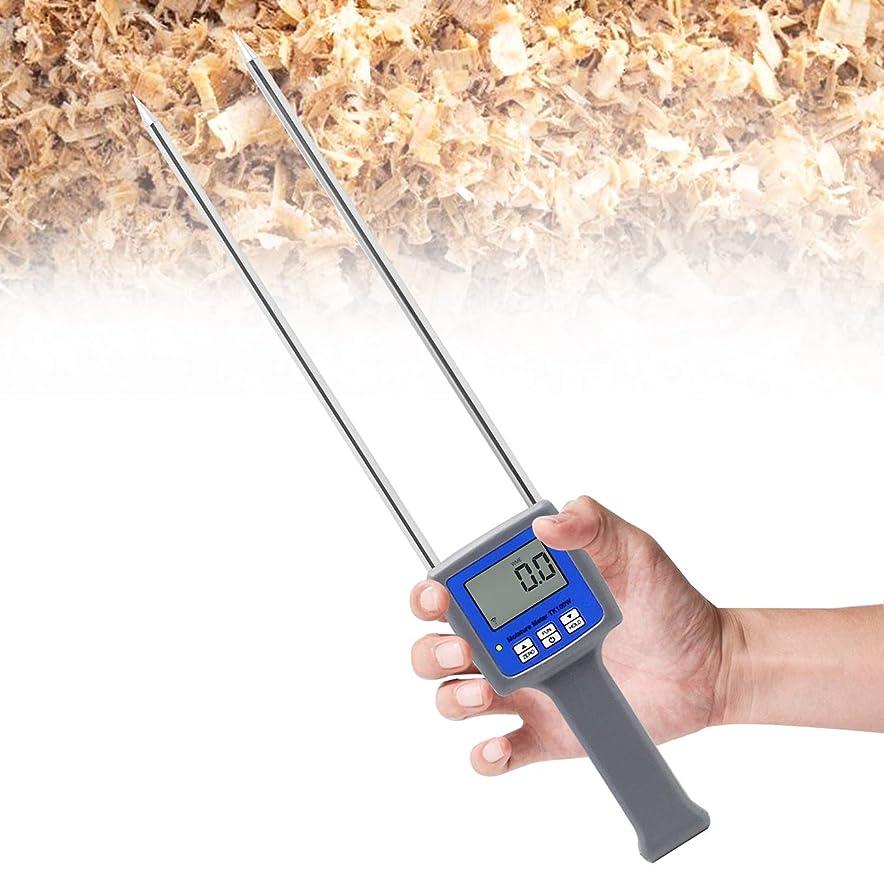 暖かさ視力幻影Huanyu デジタル水分計 竹繊維水分計 水分検出器 0-84% バックライト付き おがくず/のこくず/竹粉 水分測定湿度計 TK100W