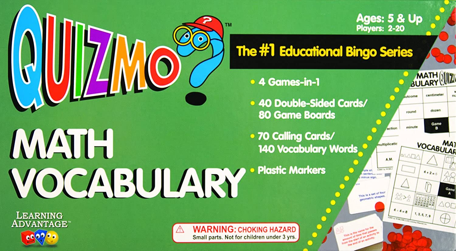 Learning Advantage 8238 Quizmo Math Vocabulary, Grade  2 to 8
