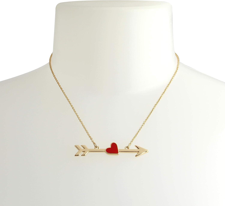 Betsey Johnson Heart Arrow Pendant Necklace & Heart Earrings Set