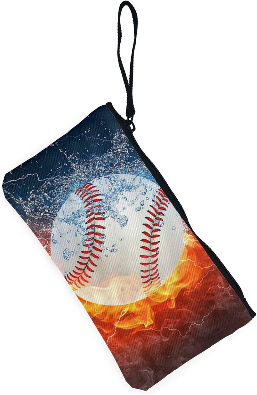 AORRUAM Baseball sports Canvas Coin Purse,Canvas Zipper Pencil Cases,Canvas Change Purse Pouch Mini Wallet Coin Bag