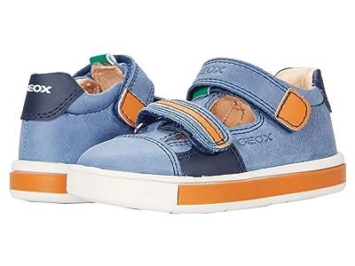 Geox Kids Trottola 1 (Toddler) (Blue/Orange) Boy