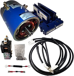 Golf Cart Motors - Club Car Motor & Controller High Speed Combo for Series (5K-0) Carts - 25 mph +5% Torque - 170-007-0002 Motor w/ 400 Amp Controller (Blue Option) - includes Solenoid & Wire kits