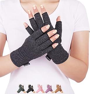 دستکش های فشرده سازی ورم مفاصل از درد روماتوئید ، RSI ، تونل کارپ ، دستکش بدون انگشت برای تایپ رایانه و کارهای روزانه ، پشتیبانی از دست و مفاصل (سیاه ، متوسط) تسکین می یابد.
